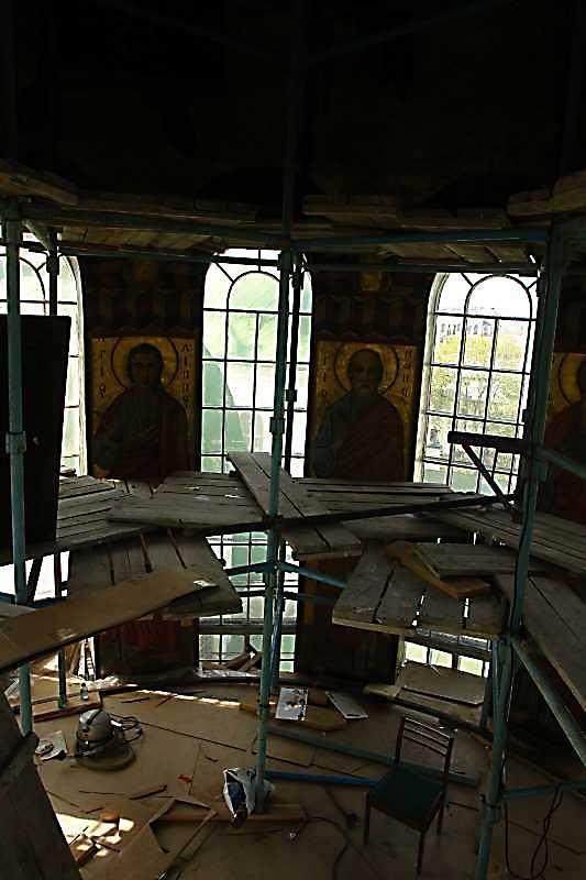 2007 р. Інтер'єр головного куполу під час реставрації