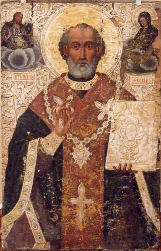 Св.Микола з Христом і богородицею
