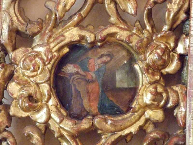 Картуш зі сценою Благоіщення (Марія)