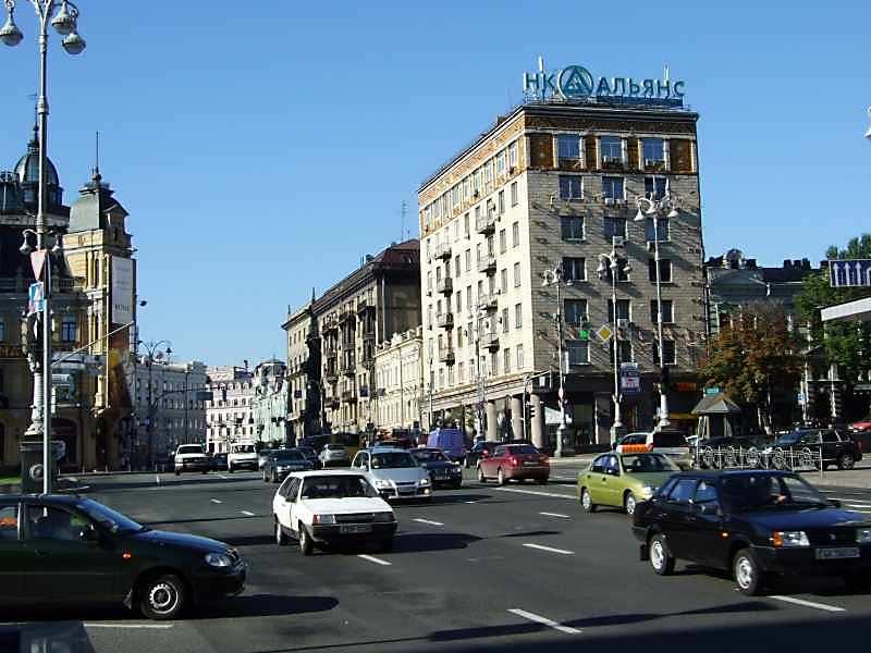 2007 р. Перспектва початку вулиці від Бесарабської площі