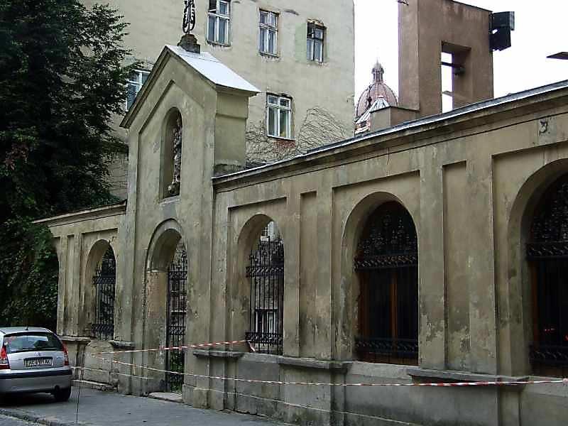 Огорожа з боку вул.Вірменської