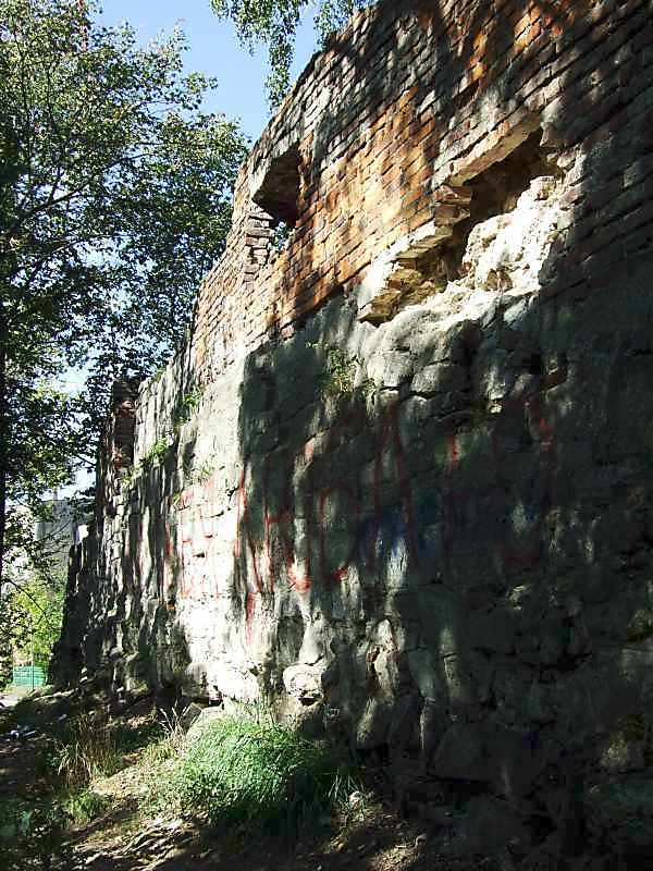 2007 р. Фрагмент стіни з боку схилу