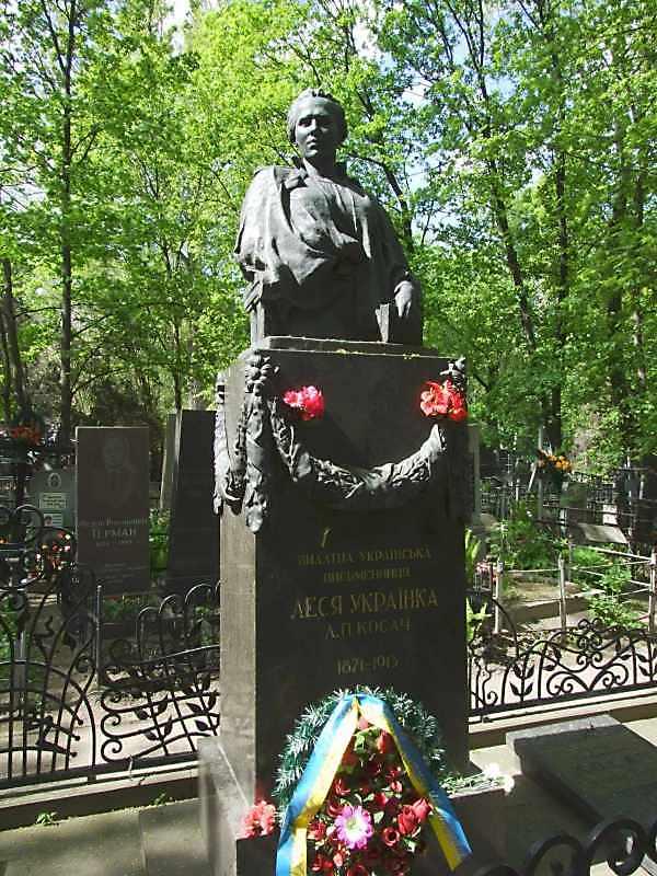 Могили Лесі Українки (1871 – 1913) та її родичів