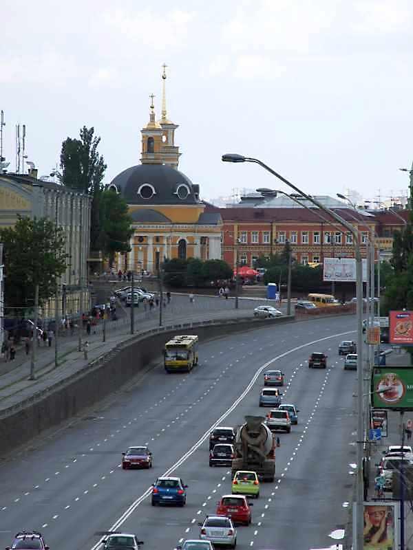 2008 р. Поштова площа у перспективі шосе