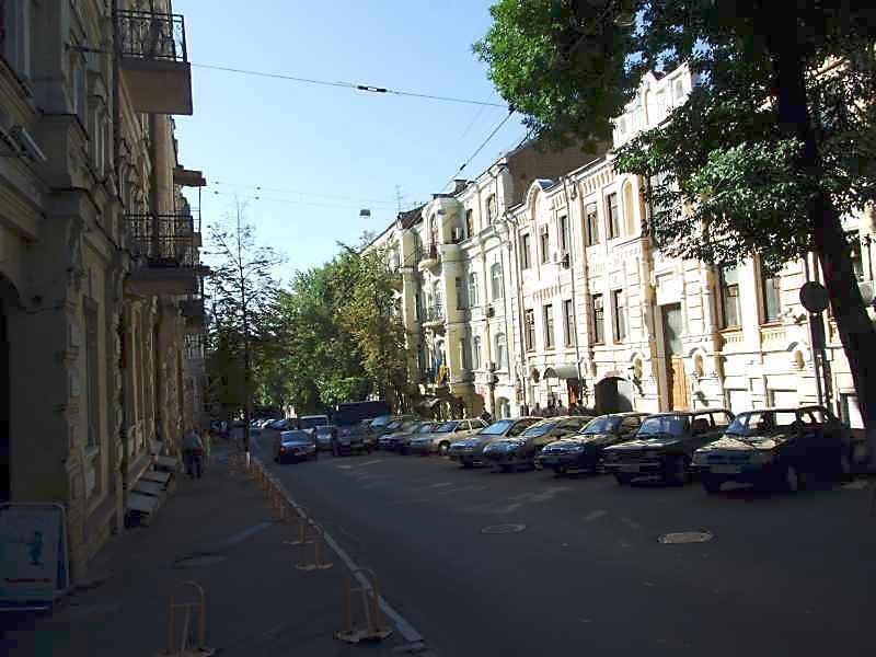 2008 р. Перспектива від будинку № 20 в бік Михайлівського провулку