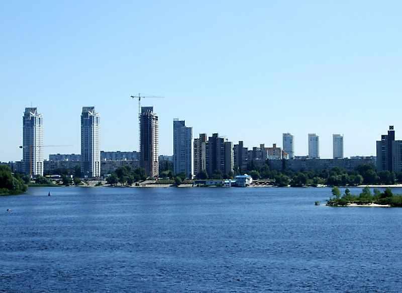 2008 р. Березняки. Вид з моста Патона