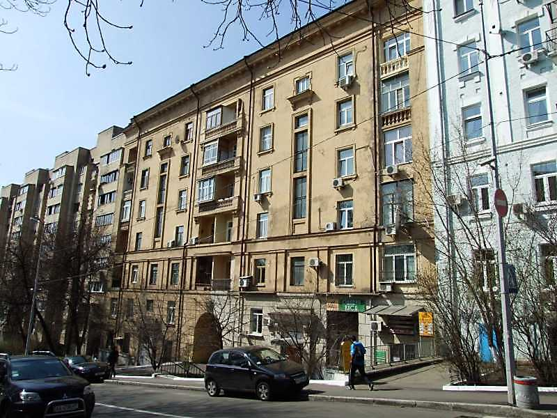 Apartment building in Kiev on the…