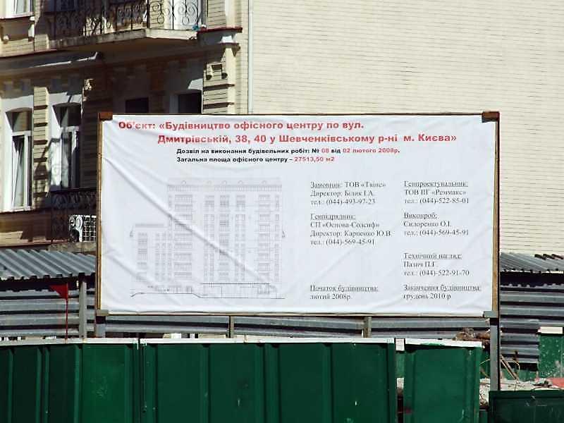 Таблиця будівництва