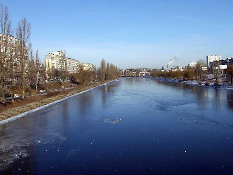 2011 р. Вид на Русанівський канал із…