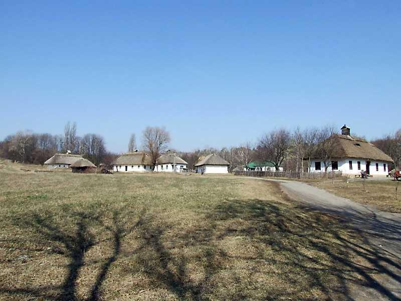2011 р. Панорама з південного сходу (хата 6а, комора і хата 8а, школа 8, повітка і хата 10,…