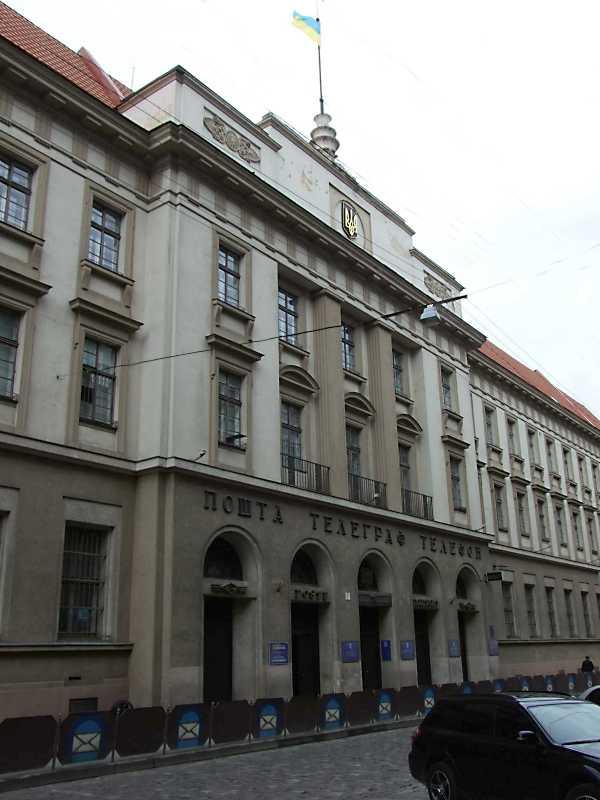 2012 р. Центральна частина головного фасаду в ракурсі