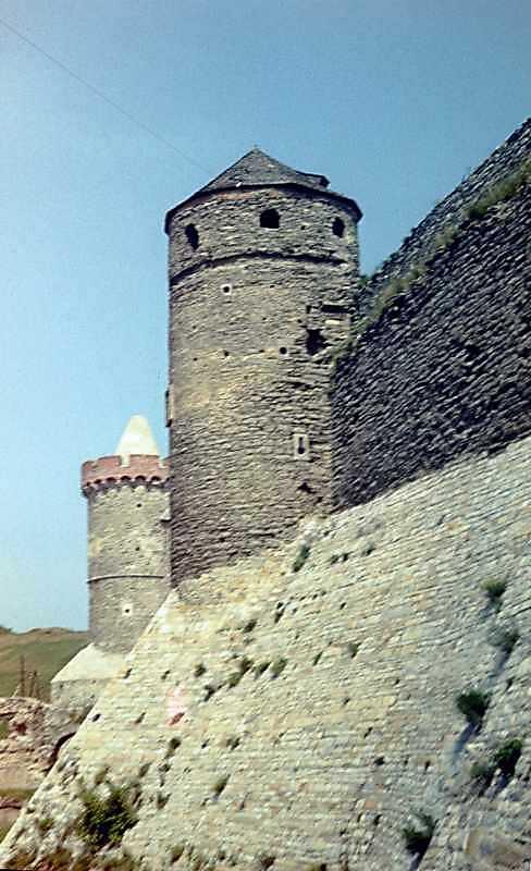 1977 р. Загальний вигляд зі сходу (ліворуч – Тенчинська башта)