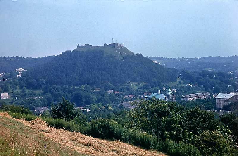 1977 р. Вид на Замкову гору і центр міста з північного заходу