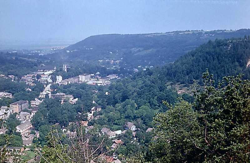 1977 р. Вид з вершини Замкової гори на…