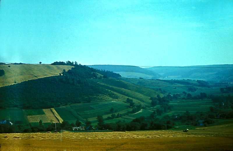 1977 р. Краєвид по дорозі з Бережан до…