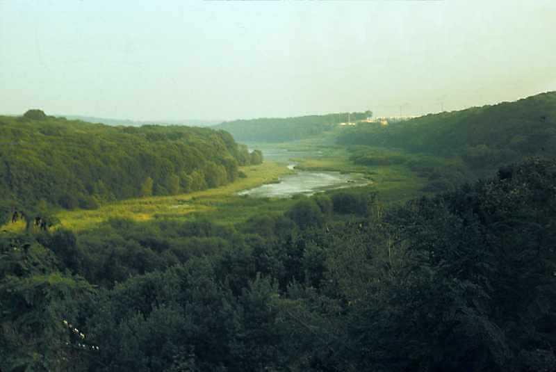 1989 р. Вид на Збруч нижче міста